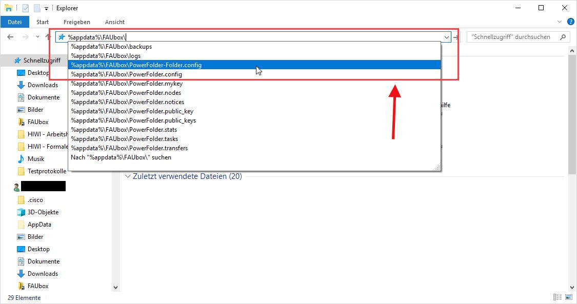 Accessing FAUbox folders via WebDAV › FAUbox